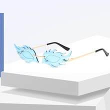 Rimless Sunglasses 2021 Party Women's Sunglasses Polarized Carnival Fox Head Butterfly Colored Unise