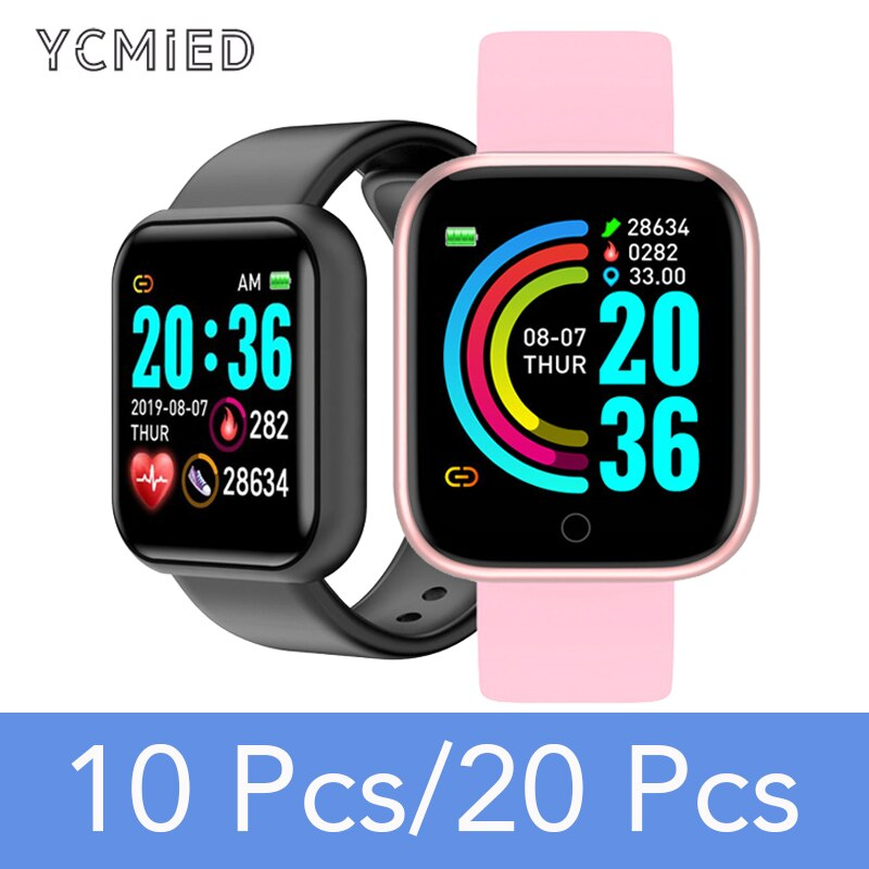 Rastreador de Fitness Smartver para Android Atacado Relógio Inteligente Bluetooth Pulseira Ios 10 Pces 20 Y68 – D20