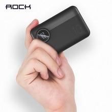 Mini batterie de puissance de roche 10000mAh LED affichage PD3.0 QC3.0 batterie externe portative de PowerBank de Charge rapide pour liphone Samsung Xiaomi