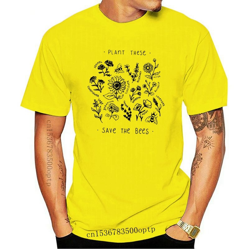 New Funny T Shirts Plant These Save The Bees Vegan Vegetarian White Slogan Tshirt Hipster Funny Xxxtentacion