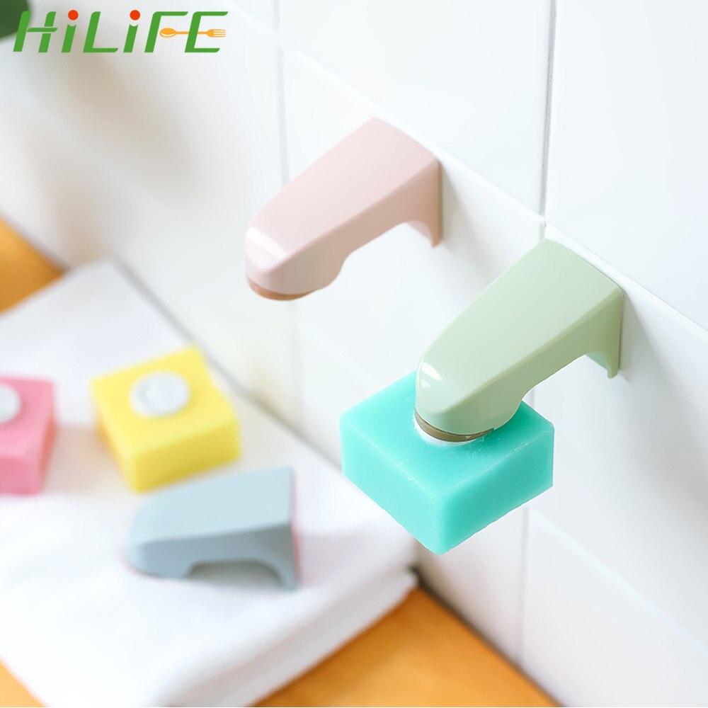HILIFE estante de almacenamiento accesorios de baño soporte magnético de jabón 5 colores montado en la pared portátil