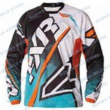 2020 DH Motocross MX FXR Manica Lunga maillot vtt cross-country Moto en Sella A descente vtt maillot Motocrosselectric Moto