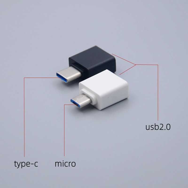 5PCS free shipping Universal Usb To Type C Adapter For Android Mobile Mini Type-C smartphone USB Connectors OTG Converter female
