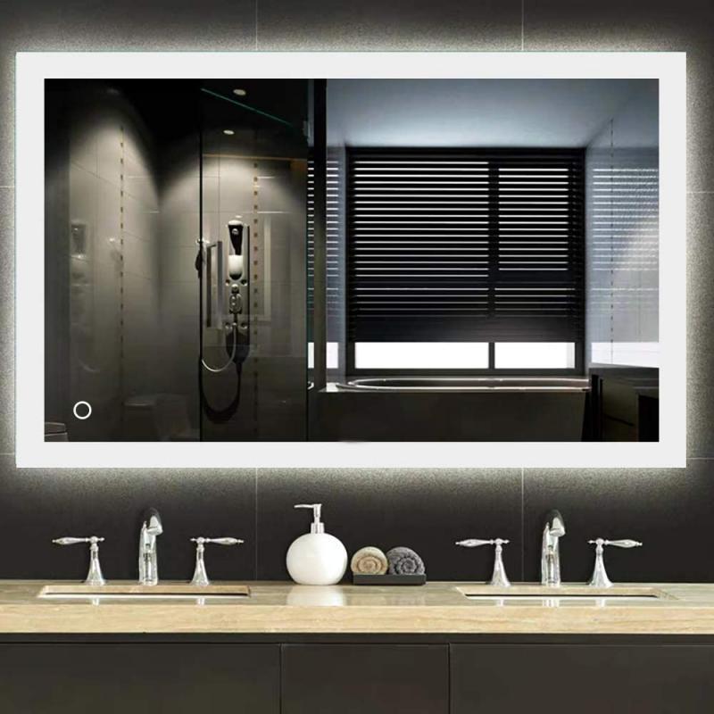 60x80 см 70x90 см, 50x70 см Смарт прямоугольный для зеркала в ванной, высокое качество зеркало для ванной со светодиодной подсветкой, зеркальный домашний дропшиппинг Лидер продаж 1 шт. HWC