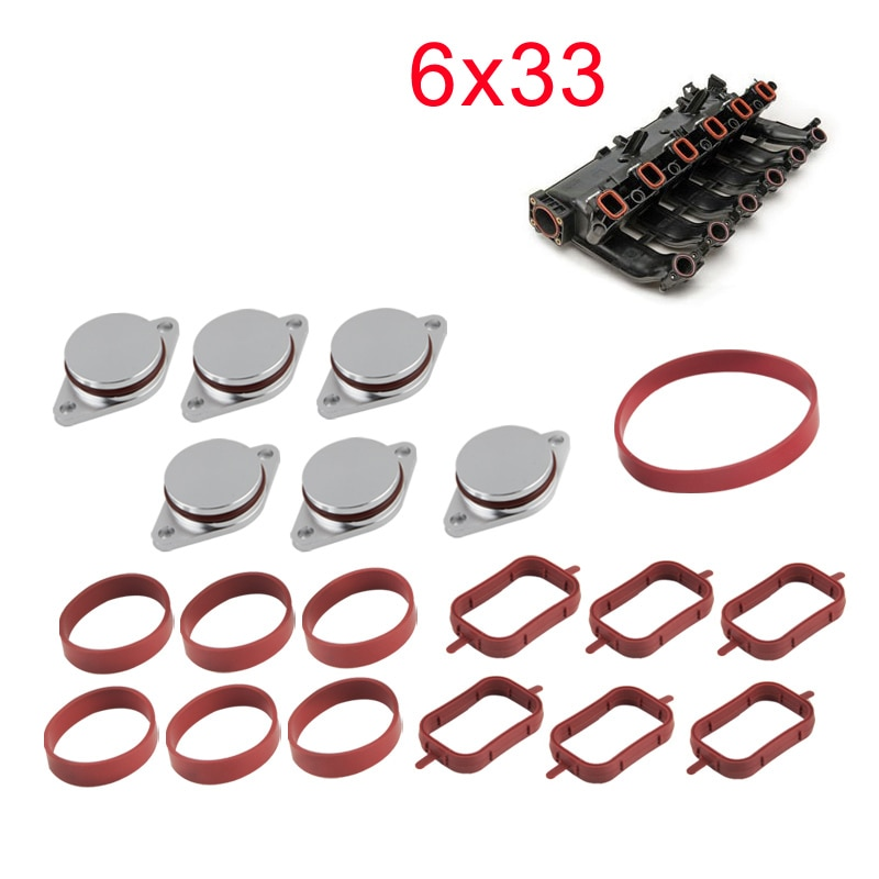 22 mm and 33 mm Swirl Flap Flaps Delete Removal Blanks Plugs For BMW M57 M57N M57TU enlarge