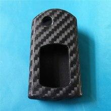1 pièces en Fiber de carbone Silicone étui à clés de voiture pliant à distance Fob protecteur couverture porte-clés sac adapté pour Mazda 3 5 6 CX5 CX7 CX9 RX8 MX5