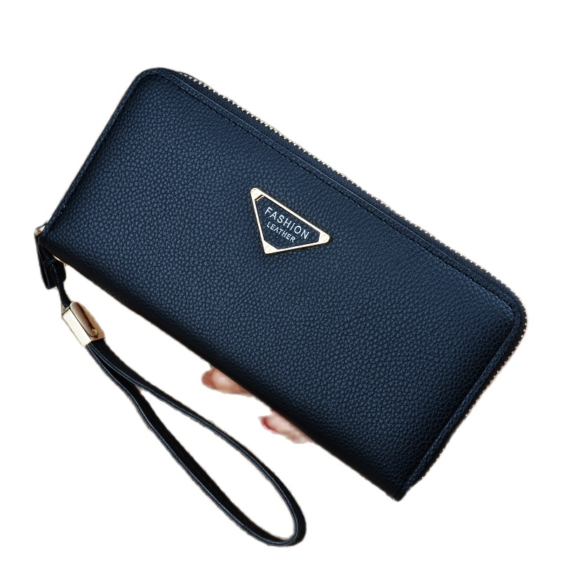Hot Fashion New Woman Leather Wallet Long Zip Korean Student Large Capacity Multifunctional Clutch
