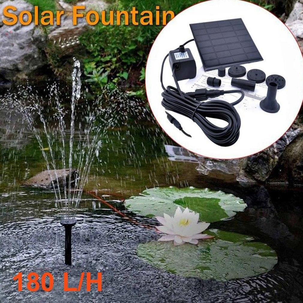 Pompe à eau solaire à panneau 7 V, 2020 livraison directe 1.2W, sans balais, pompe à eau pour jardin, étang, fontaine ou Aquarium
