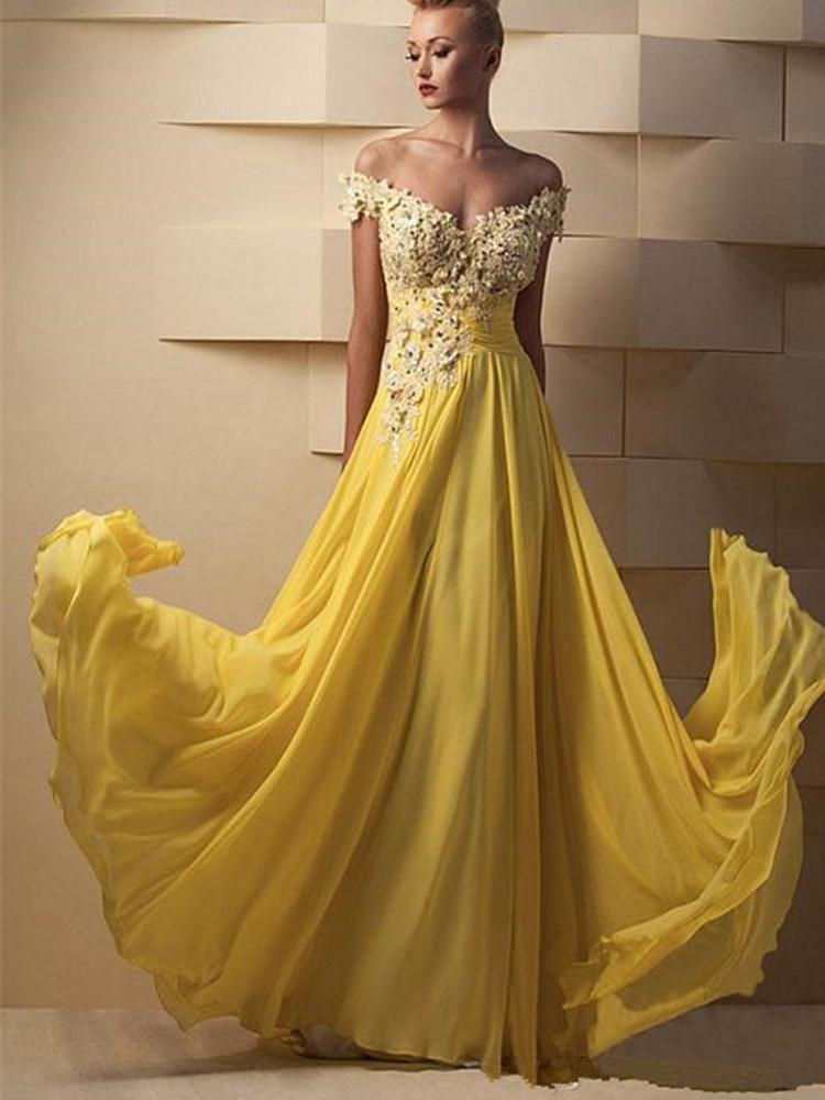 Длинные шифоновые вечерние платья-трапеция без рукавов с аппликацией из бисера Вечерние платья