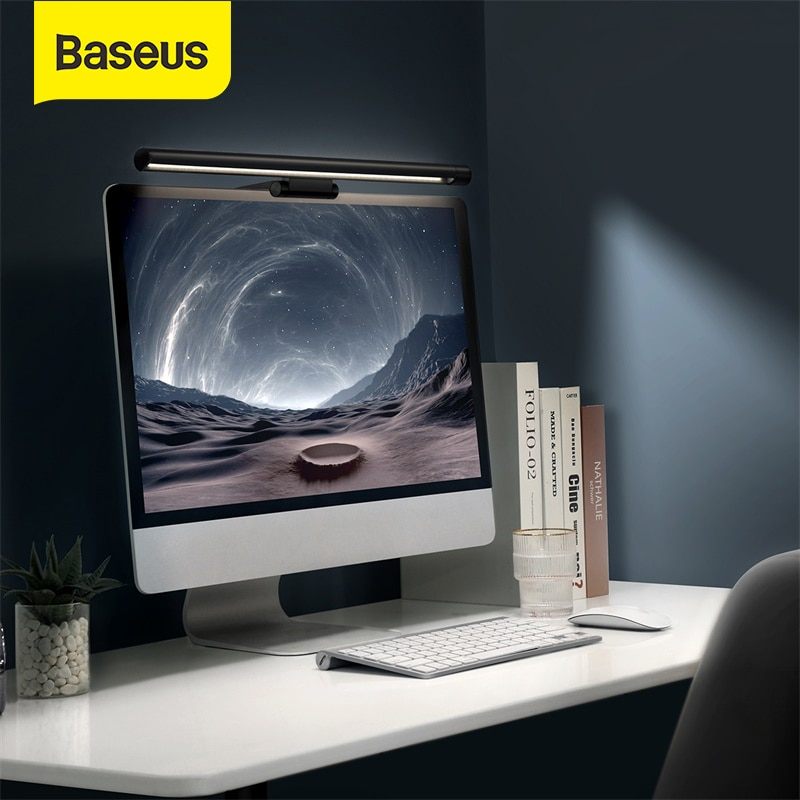 Baseus-مصباح USB LED مع شاشة كمبيوتر ، ضوء معلق USB ، العناية بالعيون ، مصباح مكتب للكمبيوتر الشخصي ، أداة USB