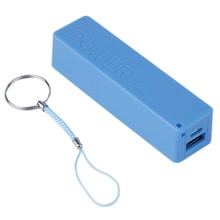 2600MAH Portable Size 1 18650 Battery External Power Bank Backup Battery Charger Power Bank Case For