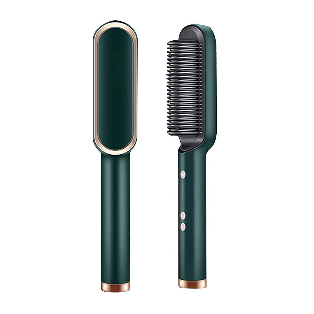 Dropshipping Service 2021 Hot Selling 4 Colors Multifunctional Women Hair Brush LCD Display Anti Sca