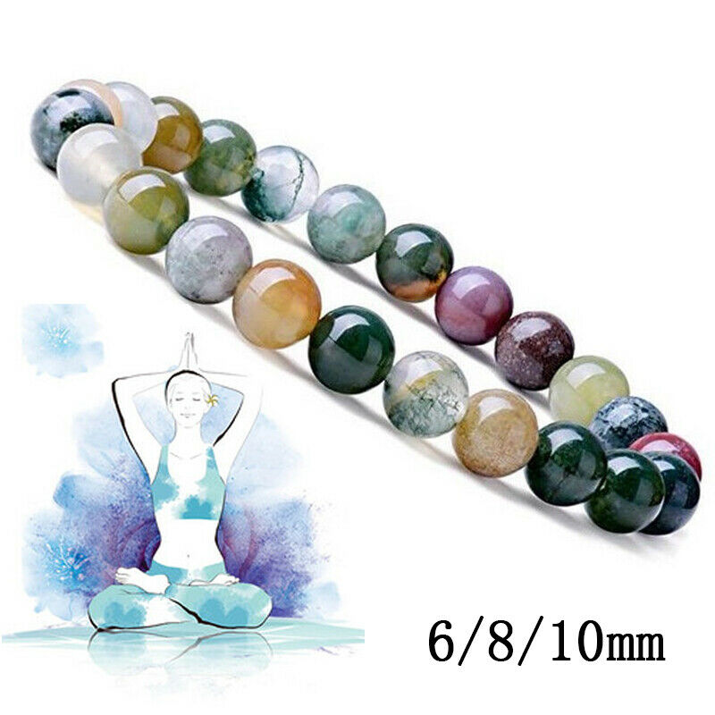 Transfer Luck 6 8 10 MM Natural Stone Beads Bracelet Amethysts Tiger Eye Lapis Lazuli Bracelets for Women Men Yoga Bracelet