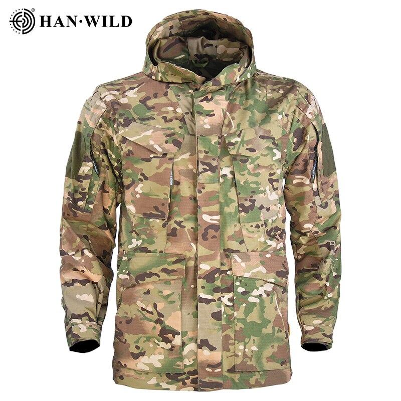 M65 военные тактические куртки Для мужчин Водонепроницаемый мужская куртка-ветровка пальто с капюшоном на открытом воздухе Рыбалка/походы П...