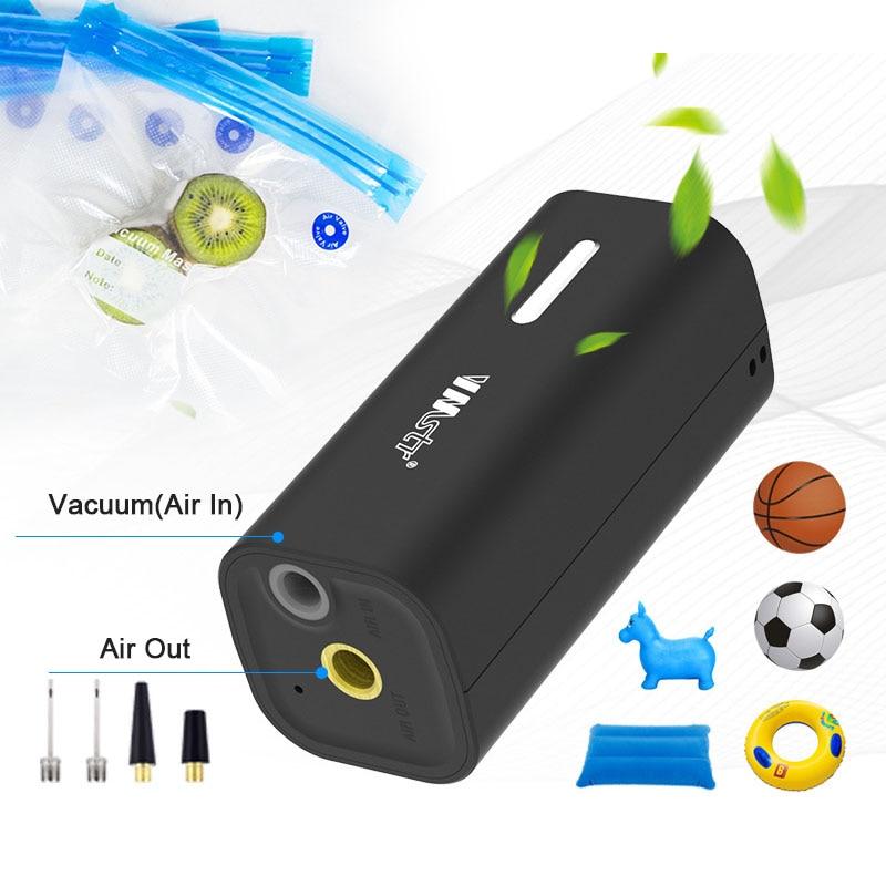 متعددة الوظائف المحمولة مضخة تفريغ هواء صغيرة للأغذية الملابس لحاف فراغ حقيبة التخزين Sous فيديو السدادة USB ماكينة ضغط