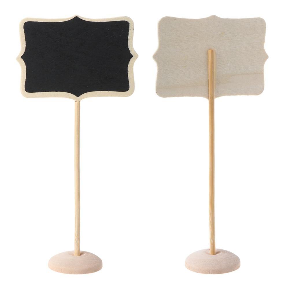 1 pieza Mini pizarra de madera pizarra mensaje nota titular boda fiesta Decoración