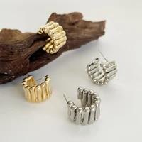 monlansher vintage geometric spiral hoop earrings chunky copper metal earrings vintage statement earrings jewelry for women 2021