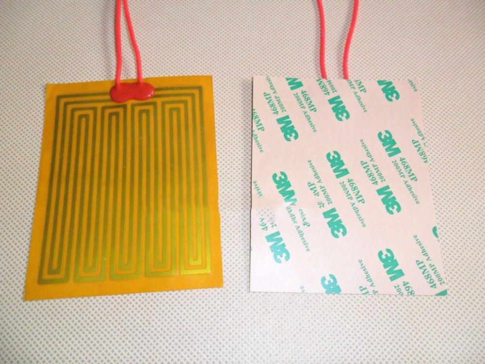 Película de calentamiento PI de 225x225mm, 24V, 160W, placa de poliimida eléctrica, cojín de Panel calefactable, estera, electroterma Flexible de lámina adhesiva, calentador de aceite