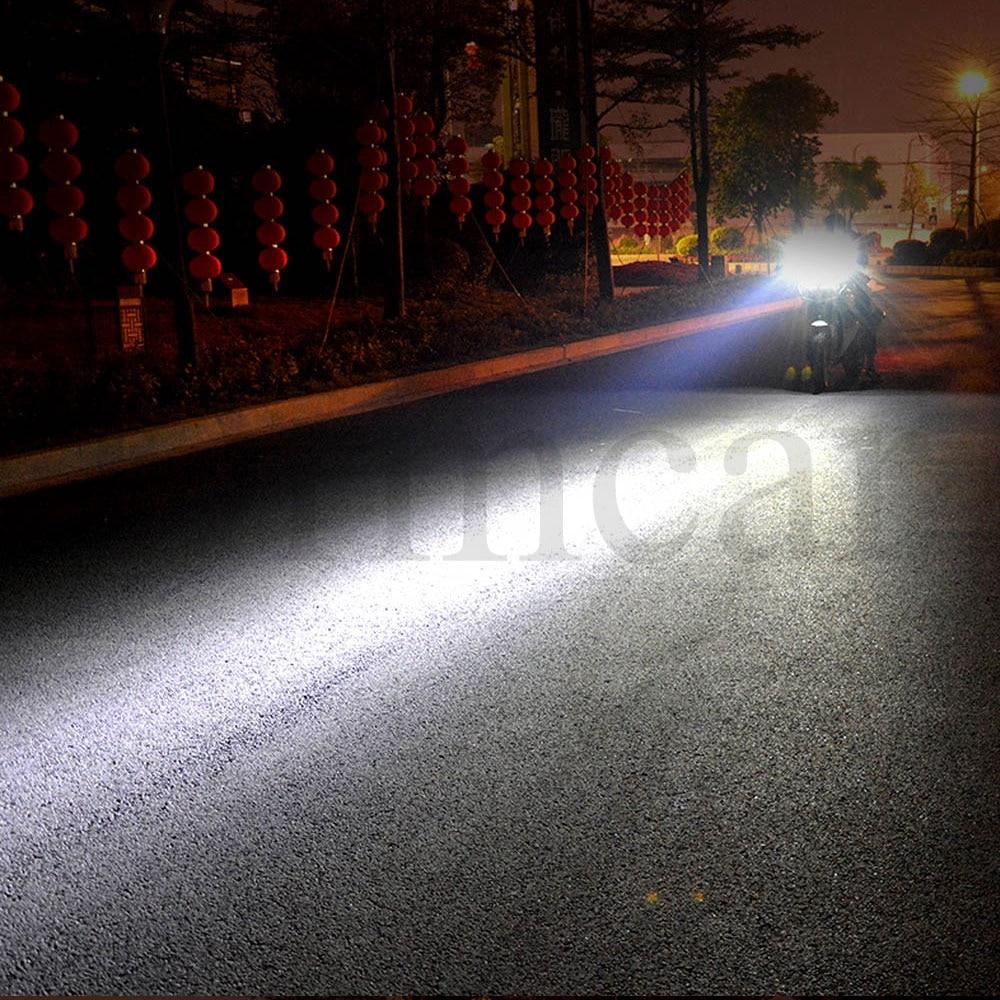 Купить с кэшбэком 1X Motorcycle LED Headlight 12V-90V 9LED Electric Bicycle Turn Signal Car Motorbike Waterproof Fog Lights External Rogue Lamp