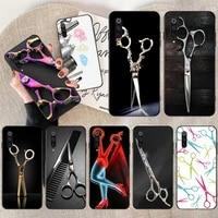 hpchcjhm hair stylist scissors brush switch phone case capa for xiaomi mi10 10pro 10 lite mi9 9se 8se pocophone f1 mi8 lite