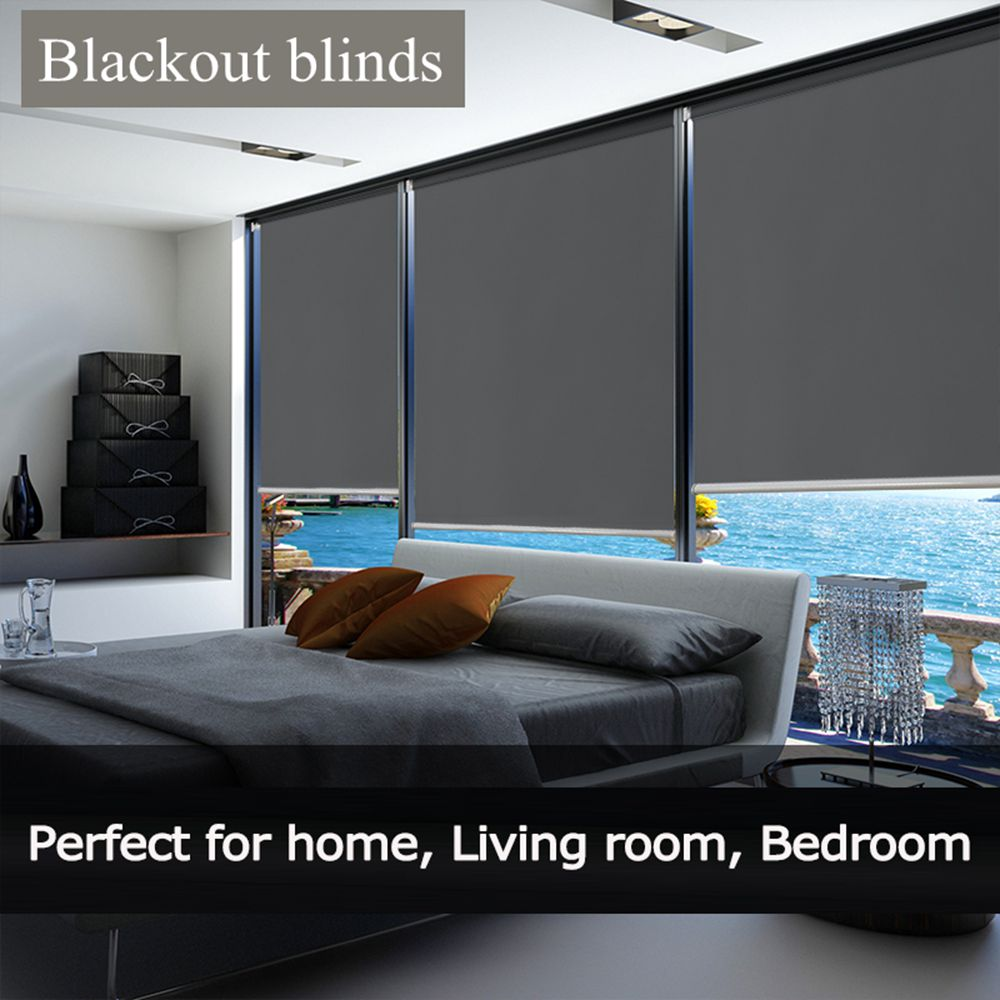 Factory Direct Blackout Roller Blinds Curtain Office/Home Solid Full Shade Thick Window