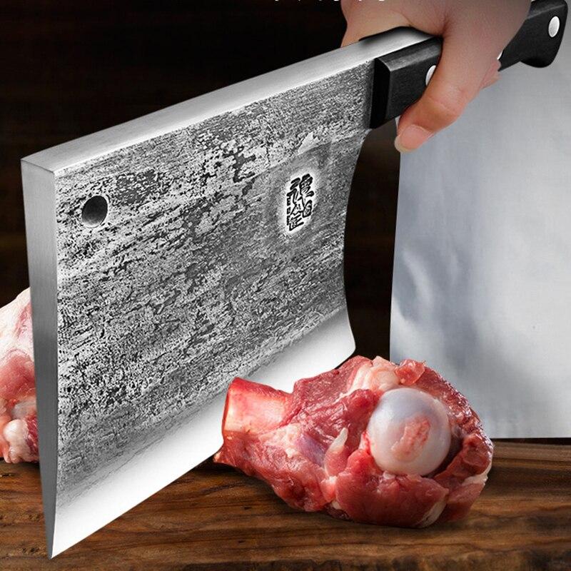 سكين تانغ خاص ، أداة تشذيب يدوية شديدة التحمل ، سكاكين فأس عالية الصلابة ، سكاكين تقطيع عظام سميكة ، سكين جزار