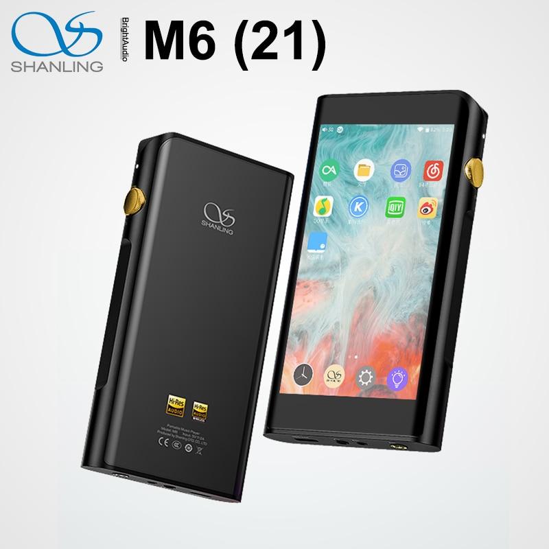 شاشة لمس جديدة من شانلينغ M6 21 عالية الدقة مشغل MP3 ثنائي ES9038Q2M DAC MQA DSD512 Andriod OS مزودة بخاصية البلوتوث وdap PCM بقدرة 768 كيلو هرتز