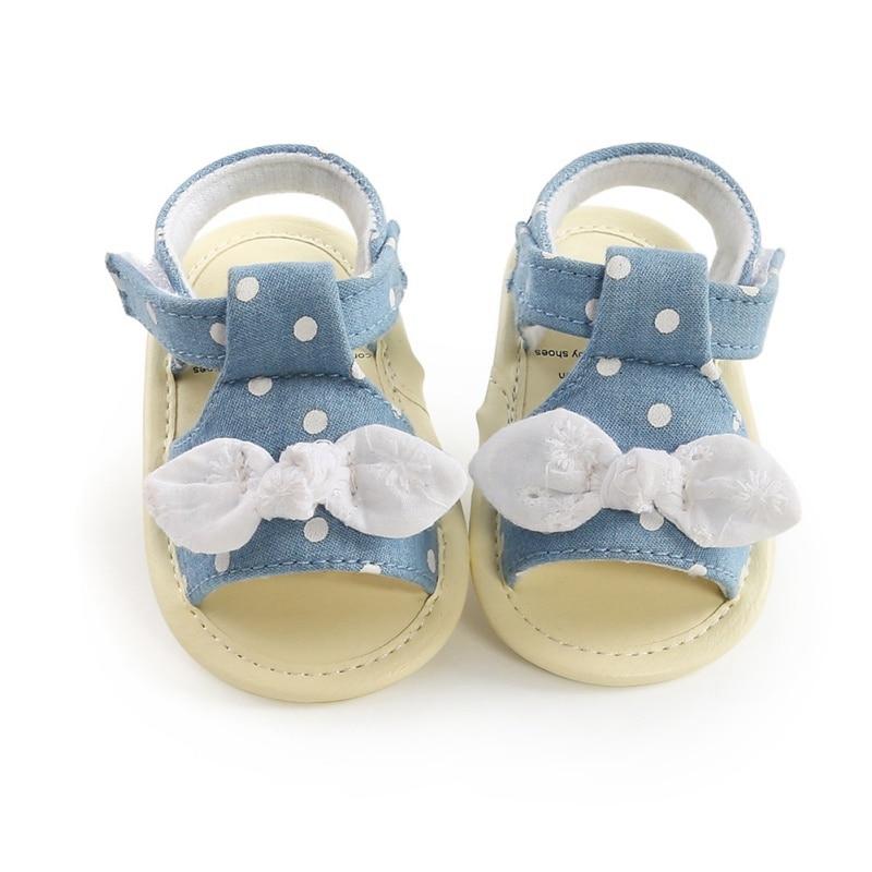 Baby Girl Shoes Elegant Polka Dot Baby Toddler Princess Shoes Anti-slip Sandals Girls Kid Baby Summer Sandals