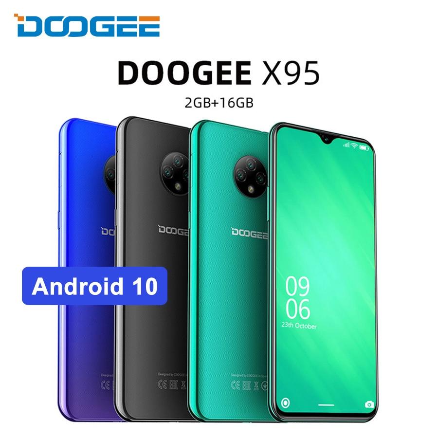Мобильный телефон DOOGEE X95, экран 6,52 дюйма, Android 10, 4G LTE, тройная камера 13 МП, соотношение 19:9, 2 Гб ОЗУ 16 Гб ПЗУ, сотовый телефон MTK6737, 4350 мАч