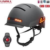 livall 2021 bh51m neo smart bike helmet with auto sensor led sides built in bluetooth mic speakers mtb helmet