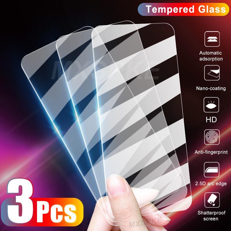 3Pcs Hd Beschermende Glas Voor Huawei Honor 8X 9X 8A 9A 9S 9C 8C 8S X10 Pro gehard Glas Voor Honor 8 20 10 9 Lite 30S 20S Glas