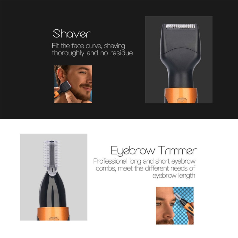 4 in 1 Electric Ear Nose Trimmer Men Portable Face Neck Hair Removal Rechargeable Beard Eyebrow Trimer Shaver Razor Face Care 53