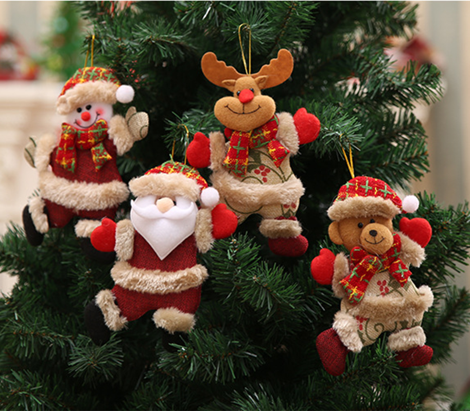 tree accessories Christmas doll pendant Snowman gift