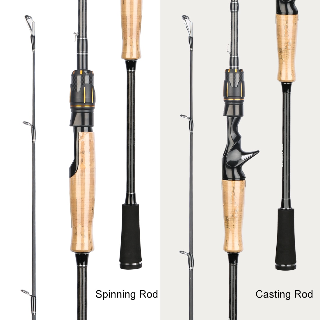 Brand Falcon II Series Fishing Rod 1.98m 2.1m 2.4m UL/L/ML/M/MH/H/XH Double-tip Carbon Lure Rod Spinning/Casting 1-80g enlarge