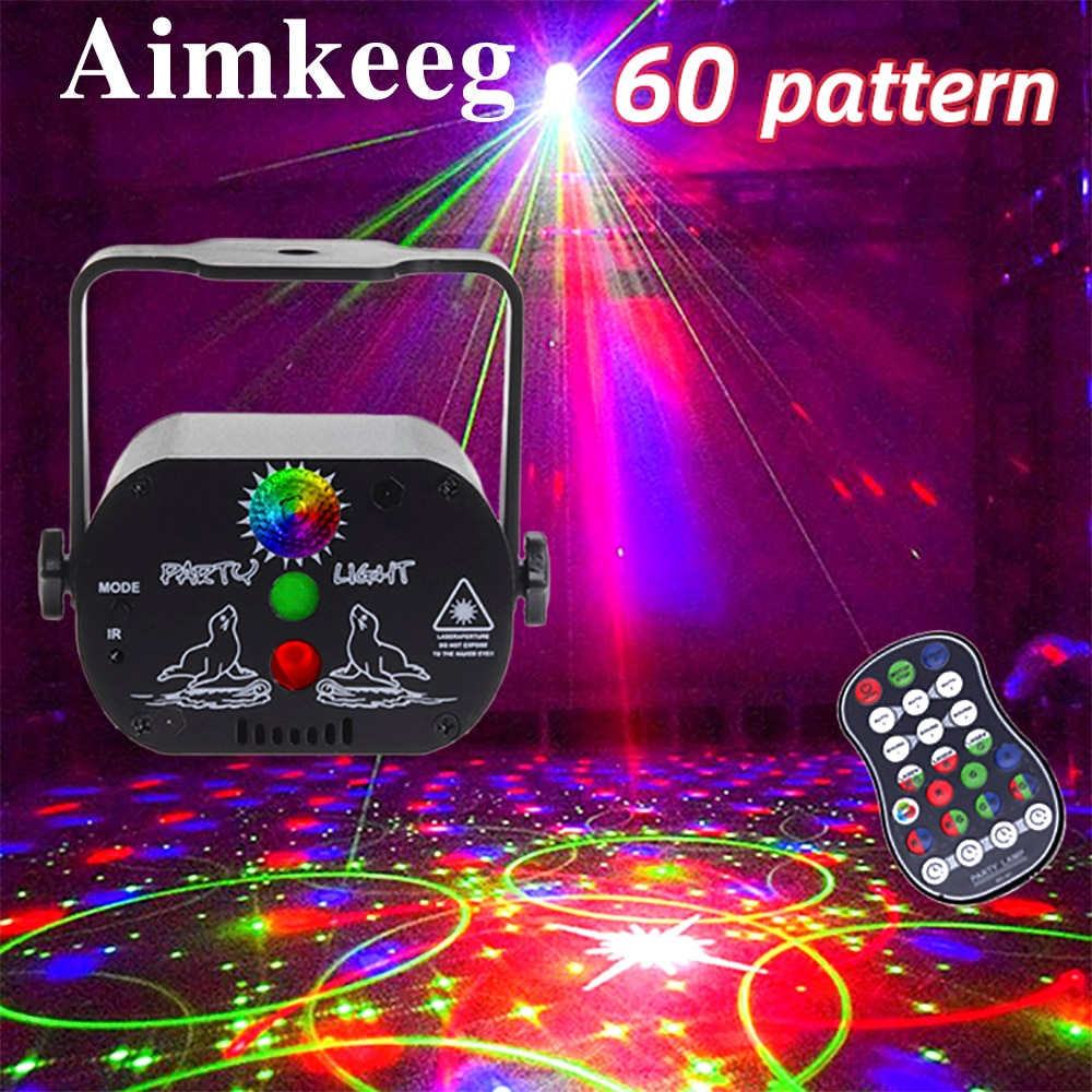 3w usb 5v mini disco ball lamp dj ktv stage light wireless ir remote voice activated lamp home party dance floor rgb light show 60 patterns Mini DJ Disco Light Party Stage Lighting Effect Voice Control USB Laser Projector Strobe Lamp for Home Dance Floor