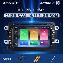 DSP autoradio multimédia 4 go 1 din android 10   Pour Dacia Lodgy Logan Duster Sandero Renault Captur/Lada/Xray, navigation gps DVD