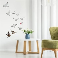 Autocollants muraux avec des oiseaux volants en 3D  Sticker mural amovible  decor de fete de mariage  decoration de maison  pour chambre denfants