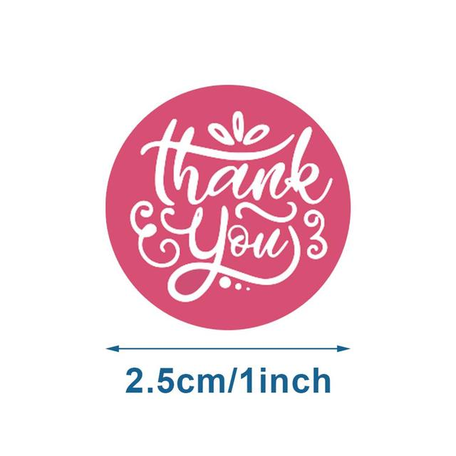 500Pcs/roll 8 Types Thank You Sticker for Seal Label Scrapbooking 10
