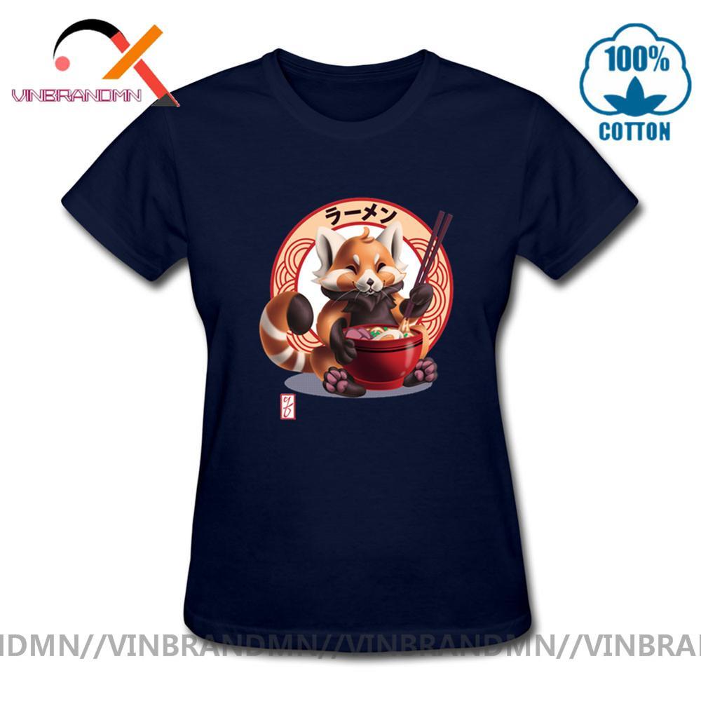 Parodia galaxia guardianes Panda Rojo Noms camiseta divertida mapache Ramen camiseta Japón alimentos fideos camiseta lindo animal impresión top tee