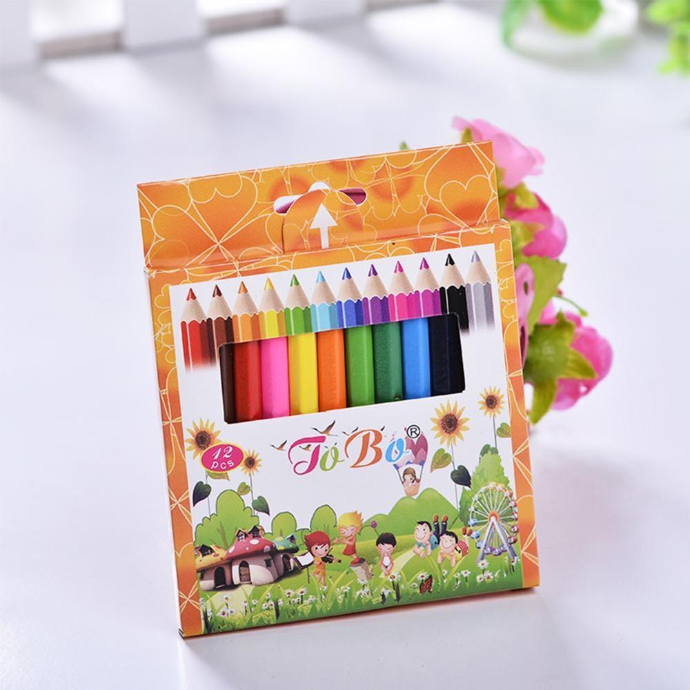 12 colores de madera Natural lápices para dibujar lápices para colorear herramienta de arte pintura papelería accesorios de oficina escuela
