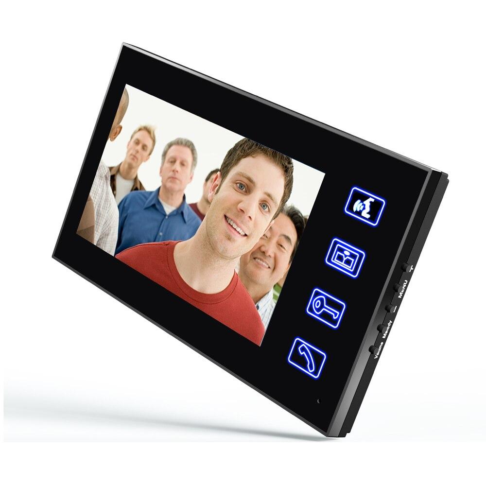 """7"""" RFID Password Video Door Phone Intercom Doorbell With IR Camera 1000 TV Line With NO-Electric Strike Door Lock enlarge"""
