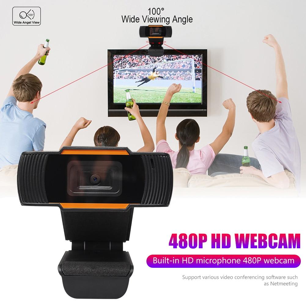Webcam ALLOET con micrófono 640x480 HD, Web USB, cámara para escuela, oficina, decoración de trabajo para Windows 10 8 7, ordenador portátil de escritorio
