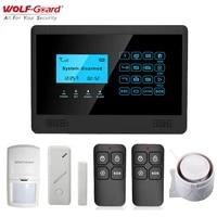 Loup-garde sans fil LCD GSM SMS maison alarme securite cambrioleur systeme 433MHz App controle PIR detecteur de mouvement porte fenetre capteur