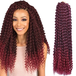 18inch Long Passion Twist Crochet Hair Synthetic Water Wave Braiding Hair Extensions Bohemia Crochet Braids 22strands/pack