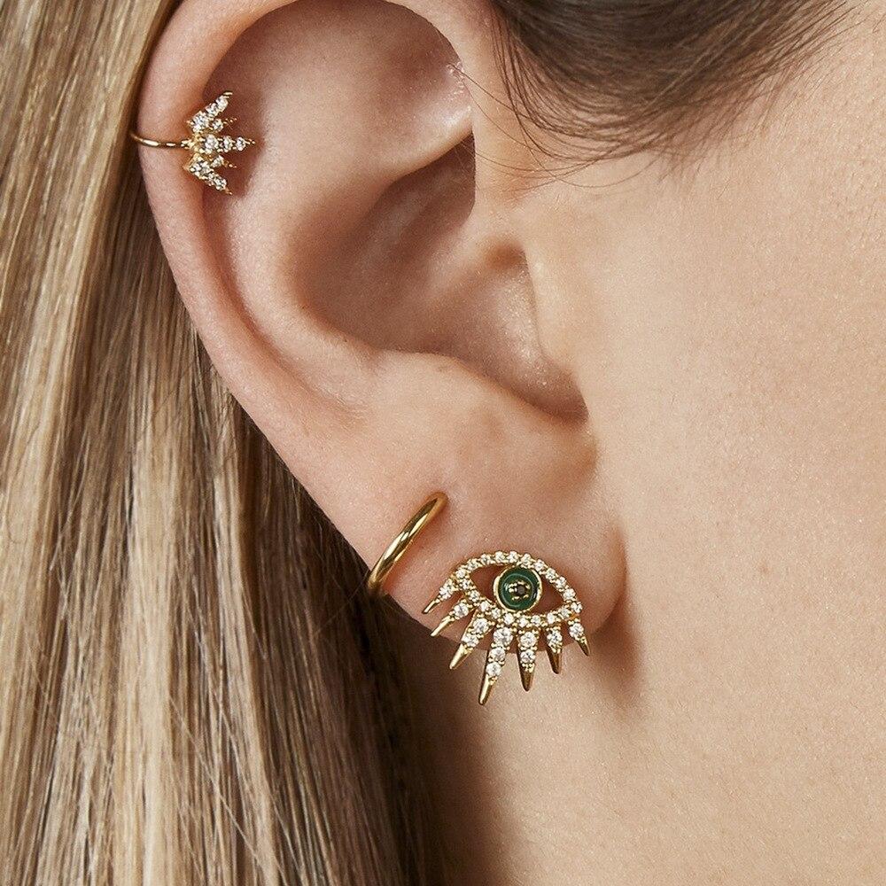 Mode Böhmen Ohr Manschetten Gold Farbe Ohr Manschette Clip Ohrringe für Frauen Earcuff Keine Piercing Gefälschte Knorpel Ohrringe Schmuck