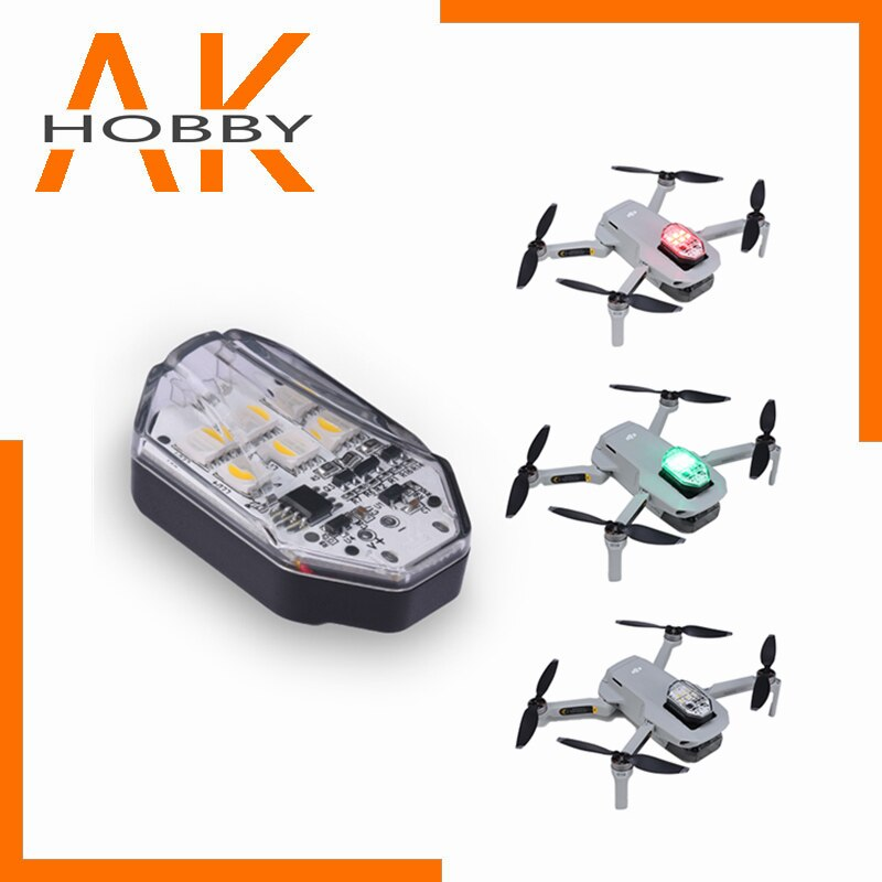 Ulanzi DR-01 navegación de drones de luz estroboscópica de la luz rojo...