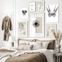 Toile de peinture abstraite et moderne  fond Beige  douce pour la maison  affiches dart murales et imprimes pour la decoration de la maison