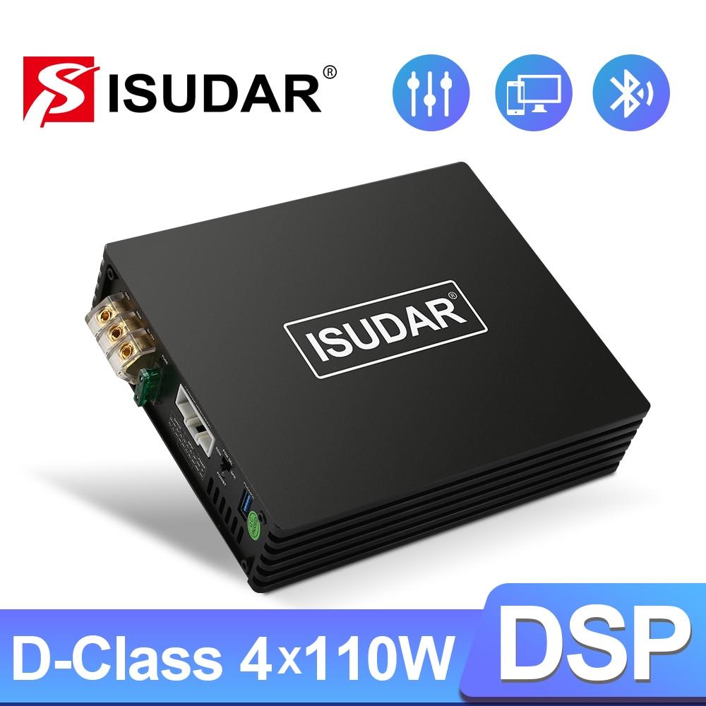 ISUDAR-amplificador DSP D4 para coche, procesador de sonido Digital Hifi, potencia máxima...