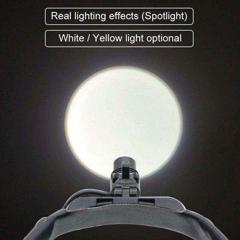 3W Helmet Headlight LED Surgical Headlamp Headband Spotlight for Dentistry Operating Room Built-in Radiator White/Yellow Light enlarge