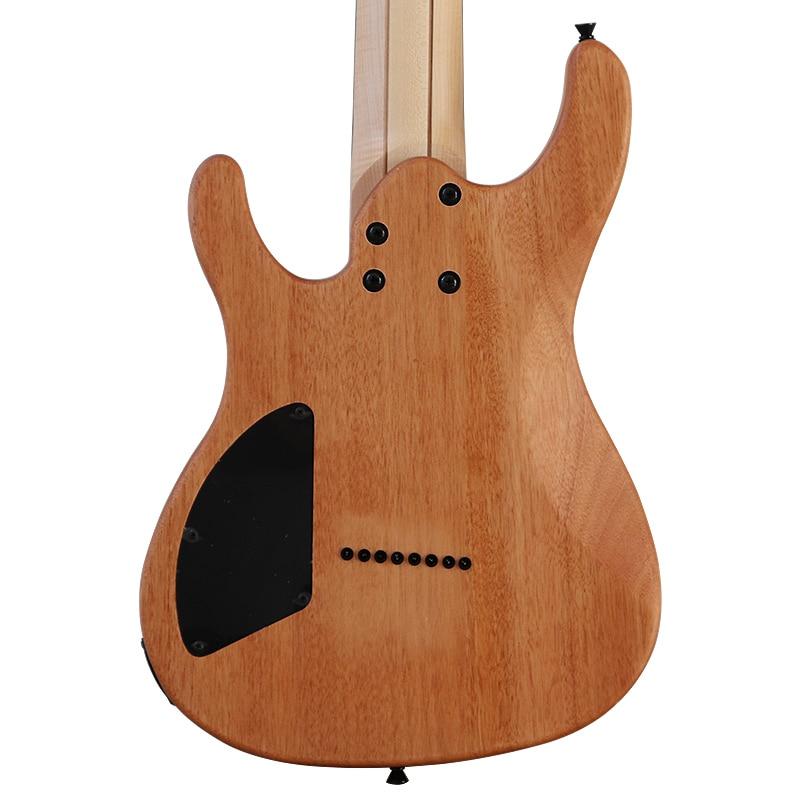 8 string electric guitar full okoume wood body  39 inch natural color 24 frets electric guitarra tree burl top enlarge